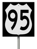 Segno della strada principale per l'itinerario 95 Immagine Stock Libera da Diritti