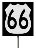 Segno della strada principale per Route 66 Fotografie Stock