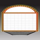 Segno della tenda foranea del teatro Fotografia Stock Libera da Diritti
