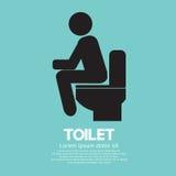 Segno della toilette. Fotografia Stock