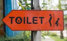 Segno della toilette Immagini Stock Libere da Diritti