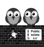 Segno della toilette Fotografia Stock Libera da Diritti