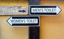 Segno della toilette Fotografia Stock