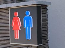 Segno della toilette Fotografie Stock