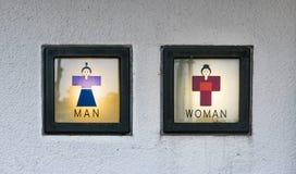 Segno della toilette Immagini Stock