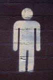 Segno della toilette degli uomini Fotografia Stock
