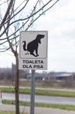 Segno della toilette del cane Fotografia Stock