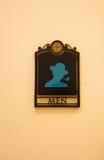 Segno della toilette dell'uomo Fotografia Stock Libera da Diritti