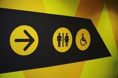 Segno della toilette della donna e dell'uomo Immagine Stock