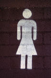 Segno della toilette delle signore /Female Fotografia Stock Libera da Diritti