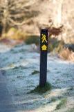 Segno della traccia della camminata Fotografia Stock Libera da Diritti