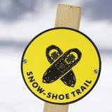 Segno della traccia dello Snowshoe. Immagini Stock