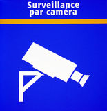 Segno della videosorveglianza fotografie stock libere da diritti