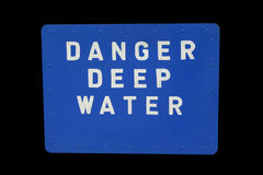Segno delle acque profonde fotografie stock libere da diritti