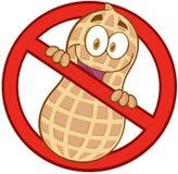 Segno delle arachidi di arresto del fumetto Fotografie Stock Libere da Diritti