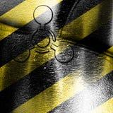 Segno delle armi chimiche Fotografia Stock Libera da Diritti