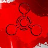 Segno delle armi chimiche Fotografia Stock