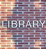 Segno delle biblioteche Fotografie Stock Libere da Diritti