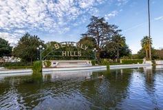 Segno delle colline di Berverly - Los Angeles, California, U.S.A. immagini stock libere da diritti