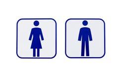 Segno delle donne degli uomini Immagine Stock