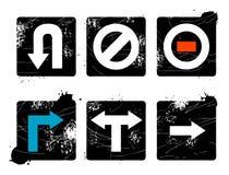 Segno delle frecce di Grunge Fotografie Stock Libere da Diritti