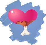Segno delle ossa e del cuore Fotografie Stock Libere da Diritti
