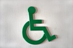 Segno delle persone invalide Immagini Stock