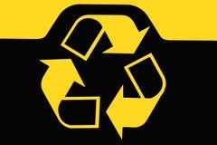 Segno dello scomparto di riciclaggio Fotografia Stock