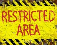Segno dello smalto di area limitata Immagini Stock Libere da Diritti
