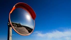Segno dello specchio della via Fotografia Stock Libera da Diritti