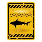 Segno dello squalo Immagini Stock Libere da Diritti