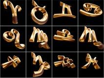 segno dello zodiaco 3D Fotografia Stock Libera da Diritti