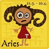 Segno dello zodiaco - Aries Fotografia Stock Libera da Diritti