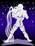 Segno dello zodiaco del Aquarius Fotografia Stock