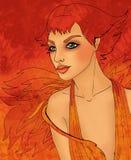 Segno dello zodiaco del Leo come bella ragazza Illustrazione di Stock
