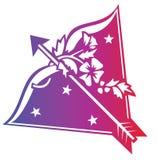 Segno dello zodiaco del Sagittarius royalty illustrazione gratis