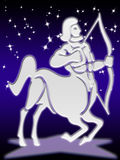 Segno dello zodiaco del Sagittarius Fotografia Stock