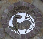 Segno dello zodiaco dell'Ariete come la decorazione esteriore Immagini Stock