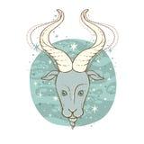 Segno dello zodiaco di capricorno Immagini Stock