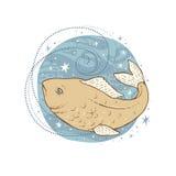 Segno dello zodiaco di pesci Fotografia Stock