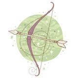 Segno dello zodiaco di Sagittario Fotografie Stock