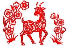 Segno dello zodiaco per l'anno di capra Immagine Stock