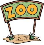 Segno dello zoo Fotografia Stock