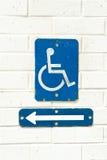 Segno di accessibilità Immagini Stock