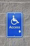 Segno di accesso di Disable Fotografie Stock Libere da Diritti