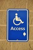 Segno di accesso di Disable Fotografie Stock