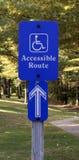 Segno di accesso di handicap Immagine Stock Libera da Diritti
