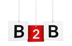 Segno di affari di B2b sulle etichette Fotografia Stock