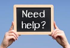 Segno di aiuto di bisogno Immagine Stock