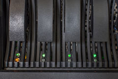 Segno di allarme di errore del disco rigido LED del server del computer Immagini Stock